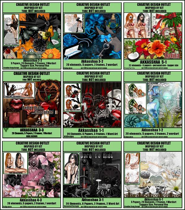 Akkasshaa Inspired By Scrap Kits
