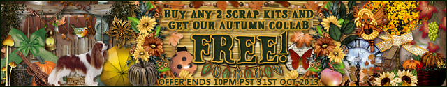 buy any 2 scrap kits this month and get Autum Collab Free
