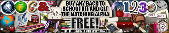 Back To School kits with FREE matching alphas!!!