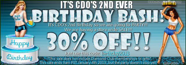 CDO Birthday Bash Save 30%