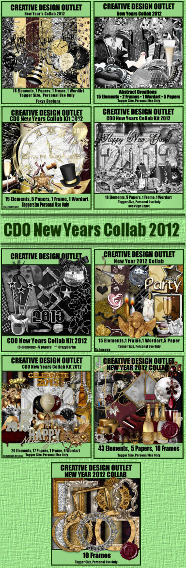 Don't forget if you buy any 2 scrap kits this month and we will automatically send you the New Year collab for FREE!