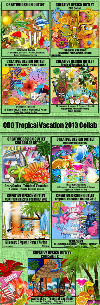 CDO Tropical Vacation Collab Kit 2013 Preview