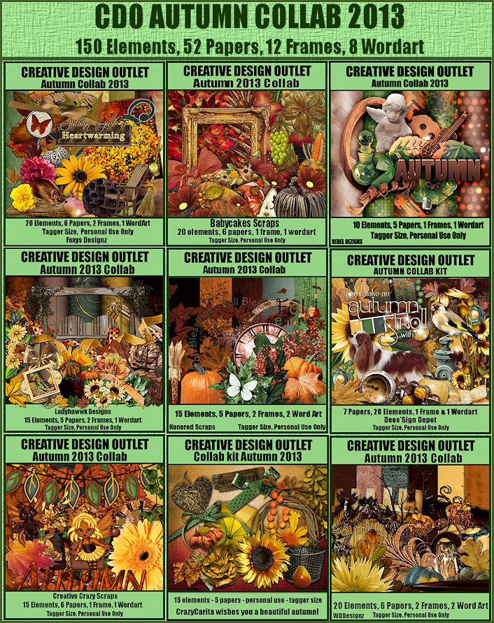 You can get this kit FREE if you buy any 2 CDO scrap kits between now & 10pm PST 31st October 2013.