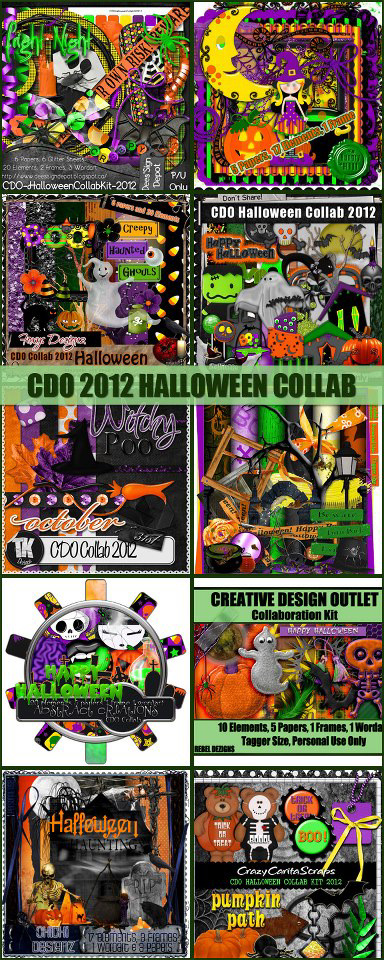 And here is the preview for the Halloween Collarb kit we are giving away...