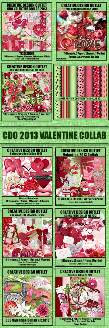 CDO Valentine Collab Kit 2012 Preview.