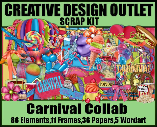 Buy any 2 scrap kits - get the Carnival Collab FREE!!!