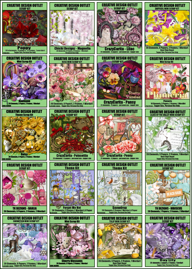 Flower Kits - Matching add- on Free!!!