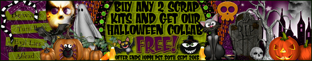 buy ANY 2 kits at CDO this month, we'll send you the 2013 Halloween collab FREE!!