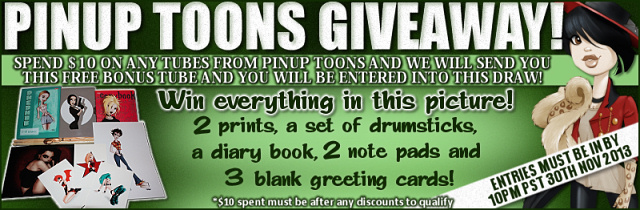 FREE BONUS TUBE, New Goodies & WIN With PinUpToons!!